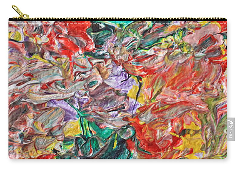 Acrylic Carry-all Pouch featuring the painting Acrylic Madness by Carl Deaville