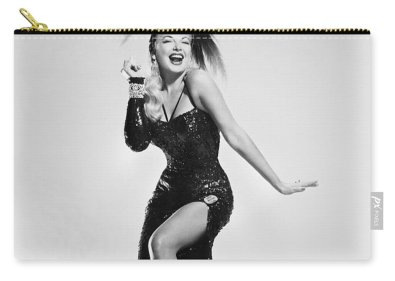 1956 Carry-all Pouch featuring the photograph Actress Barbara Nichols by Underwood Archives