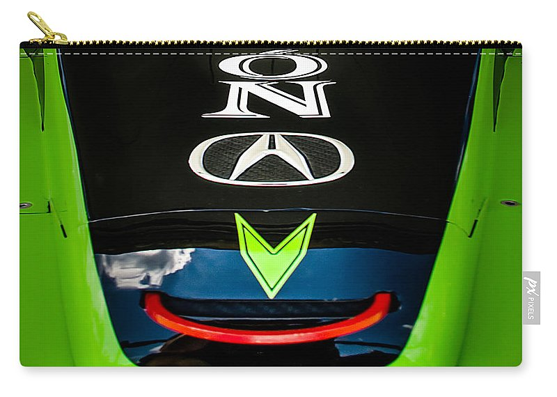 Acura Carry-all Pouch featuring the photograph Acura Patron Car Hood by Scott Wyatt