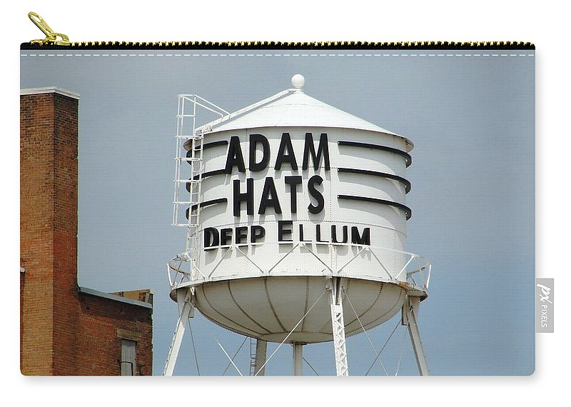 Dallas Carry-all Pouch featuring the photograph Adam Hats In Deep Ellum by Charlie and Norma Brock
