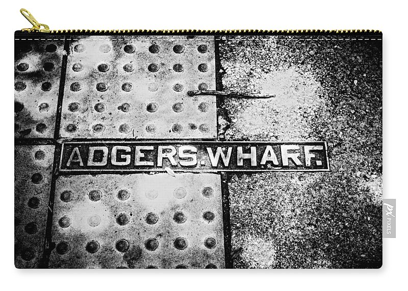 Historical Adgers Wharf Carry-all Pouch featuring the photograph Adgers Wharf by Sennie Pierson