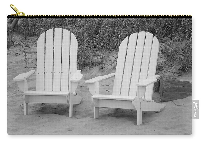 Chairs Carry-all Pouch featuring the photograph Adirondachairs by Rob Hans