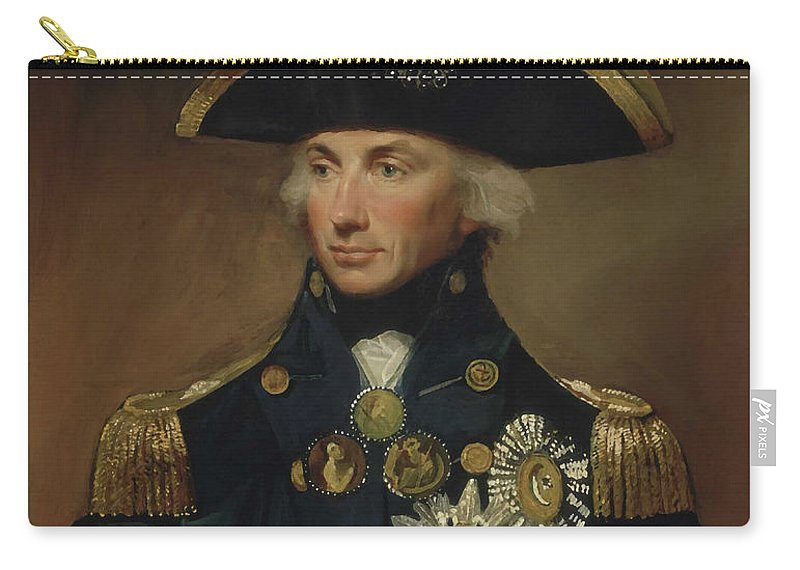 Horatio Nelson Carry-all Pouch featuring the painting Admiral Horatio Nelson by War Is Hell Store