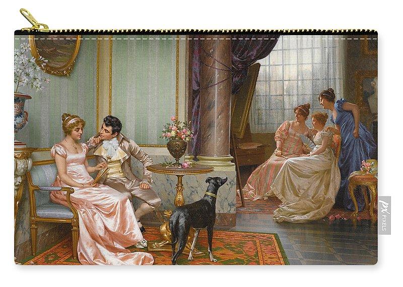 Vittorio Reggianini Carry-all Pouch featuring the painting Admiration by Vittorio Reggianini