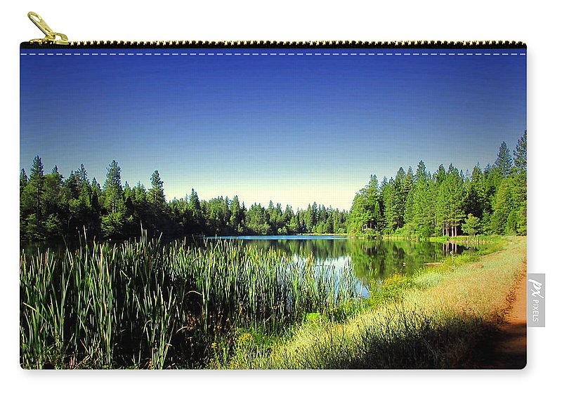 Lake Carry-all Pouch featuring the photograph Admiring The Beauty At Woodbridge Lake by Joyce Dickens
