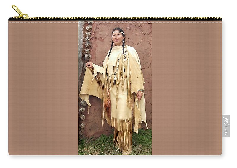 Indian Carry-all Pouch featuring the photograph Adobe Wall by Cindy New