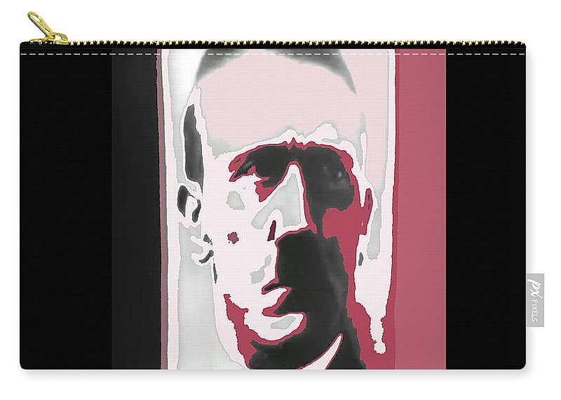 Adolph Hitler Close-up Circa 1933 Collage Color Added Carry-all Pouch featuring the photograph Adolph Hitler Collage Close-up Circa 1933-2009 by David Lee Guss