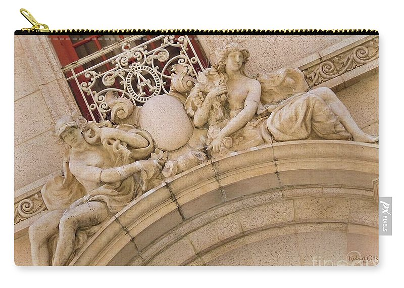 Architecture Carry-all Pouch featuring the photograph Adolphus Hotel - Dallas #3 by Robert ONeil