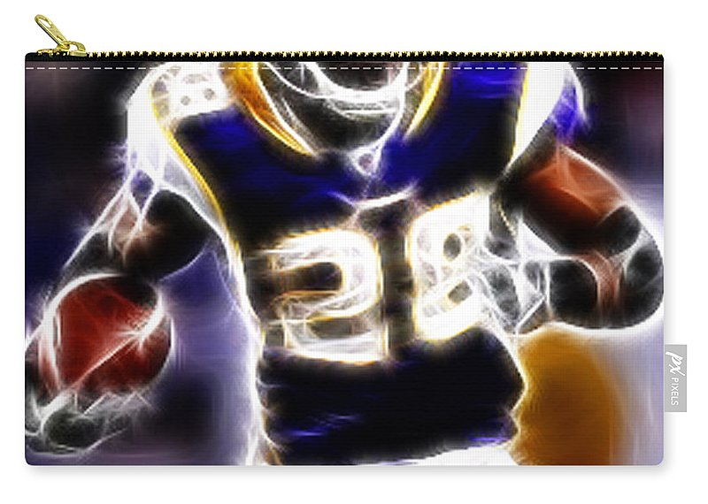 Adrian Peterson Carry-all Pouch featuring the photograph Adrian Peterson 01 - Football - Fantasy by Paul Ward
