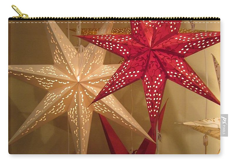 Advent Stars Carry-all Pouch featuring the photograph Advent Stars by Rosita Larsson