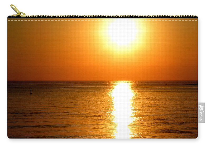 Aegean Sunset Carry-all Pouch featuring the photograph Aegean Sunset by Micki Findlay