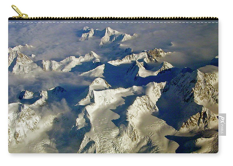 Aerial Photography Carry-all Pouch featuring the photograph Aerial Ice Fields by Jeremy Rhoades