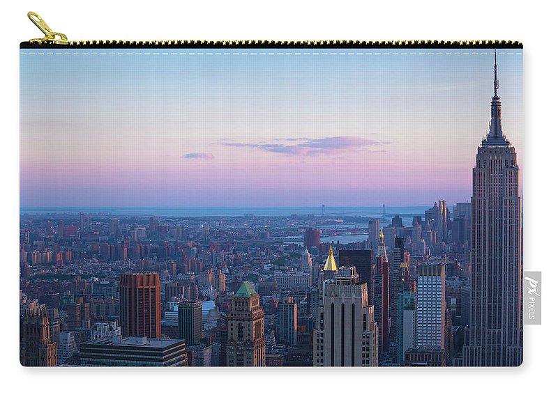 Tranquility Carry-all Pouch featuring the photograph Aerial View Of Empire State And Midtown by Future Light
