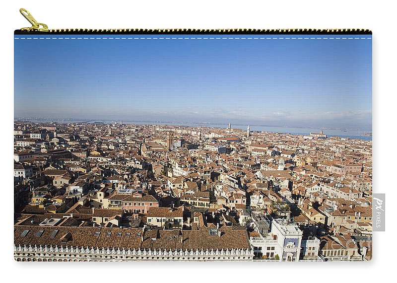 Travel Carry-all Pouch featuring the photograph Aerial View Of Venice by Jason O Watson