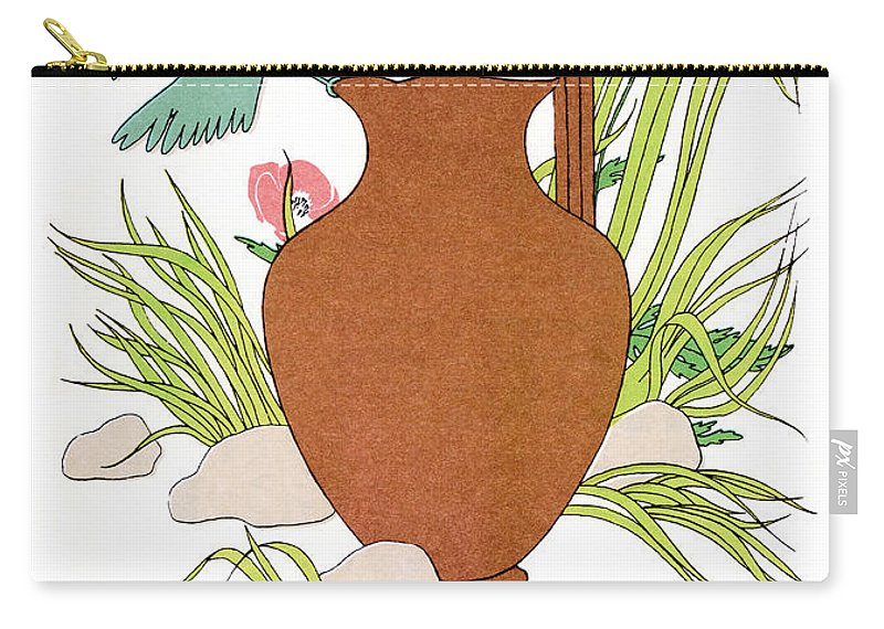 Aesop Carry-all Pouch featuring the photograph Aesop: Crow & Pitcher by Granger