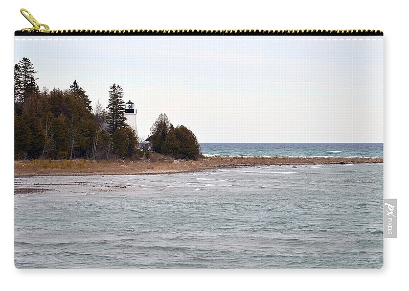 Presque Isle Carry-all Pouch featuring the photograph Afar by Linda Kerkau