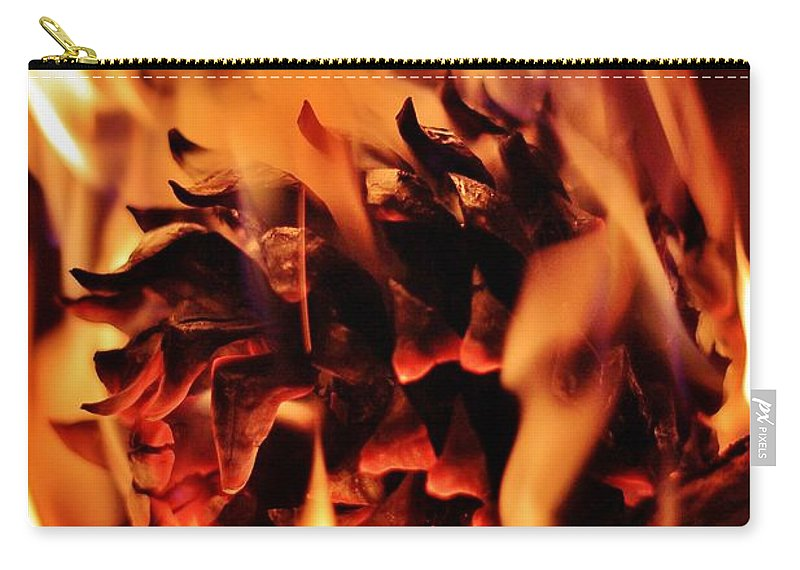 Pine Carry-all Pouch featuring the photograph Aflame by Benjamin Yeager