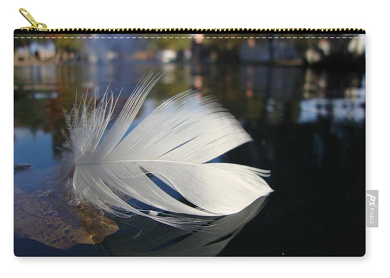Feather Carry-all Pouch featuring the photograph Afloat by Annie Adkins