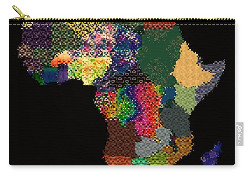 Africa Carry-all Pouch featuring the digital art Africa by Ericamaxine Price