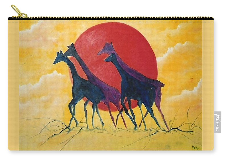 Africa Carry-all Pouch featuring the painting Africa by Lord Frederick Lyle Morris - Disabled Veteran