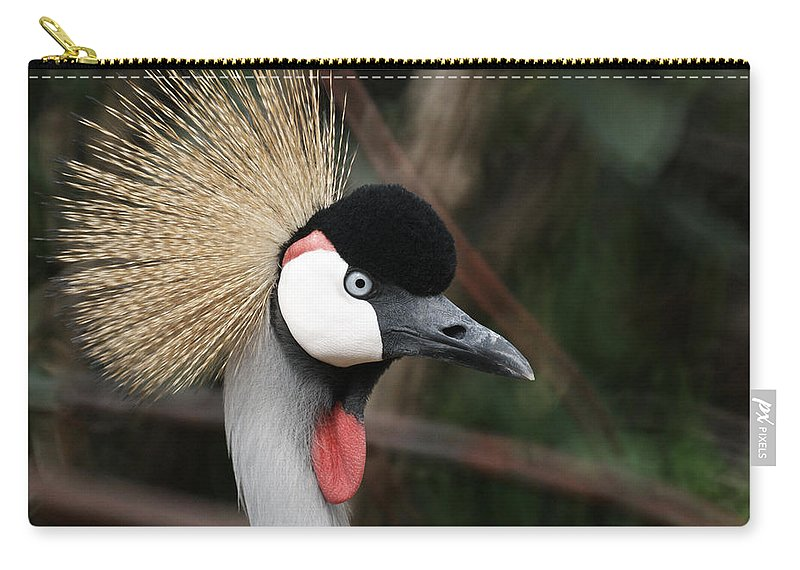 African Crowned Crane Carry-all Pouch featuring the photograph African Crowned Crane by Ernie Echols