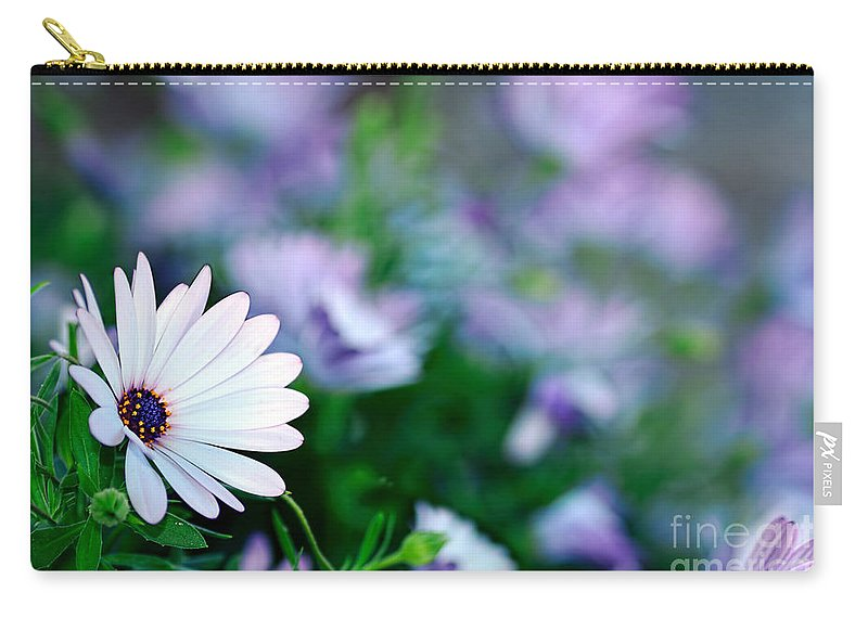 Photography Carry-all Pouch featuring the photograph African Daisy Bokeh By Kaye Menner by Kaye Menner