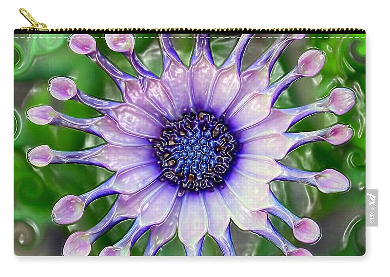 Abstract Carry-all Pouch featuring the photograph African Daisy For Van Gogh by Carol Groenen