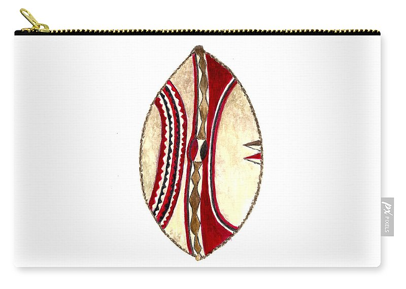 African Maasai War Shield Carry-all Pouch