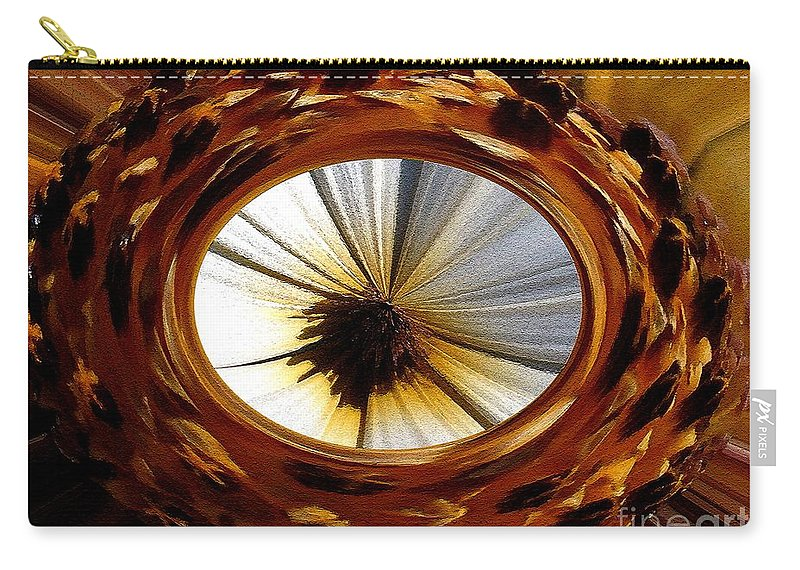 Mccombie Carry-all Pouch featuring the painting African Moon Abstract by J McCombie