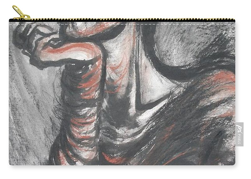 Original Carry-all Pouch featuring the painting African Queen by Carmen Tyrrell