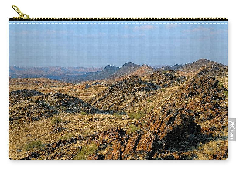 Scenics Carry-all Pouch featuring the photograph African Scenery by Vittorio Ricci - Italy