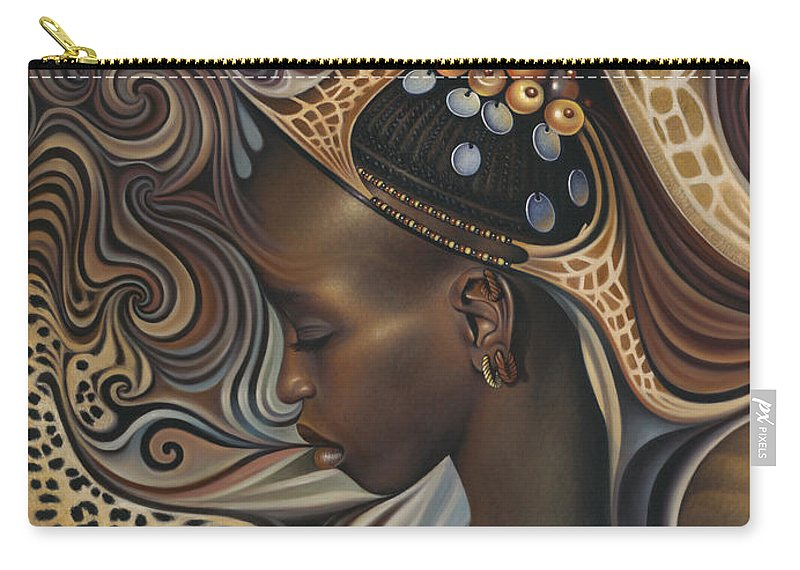 African Carry-all Pouch featuring the painting African Spirits II by Ricardo Chavez-Mendez