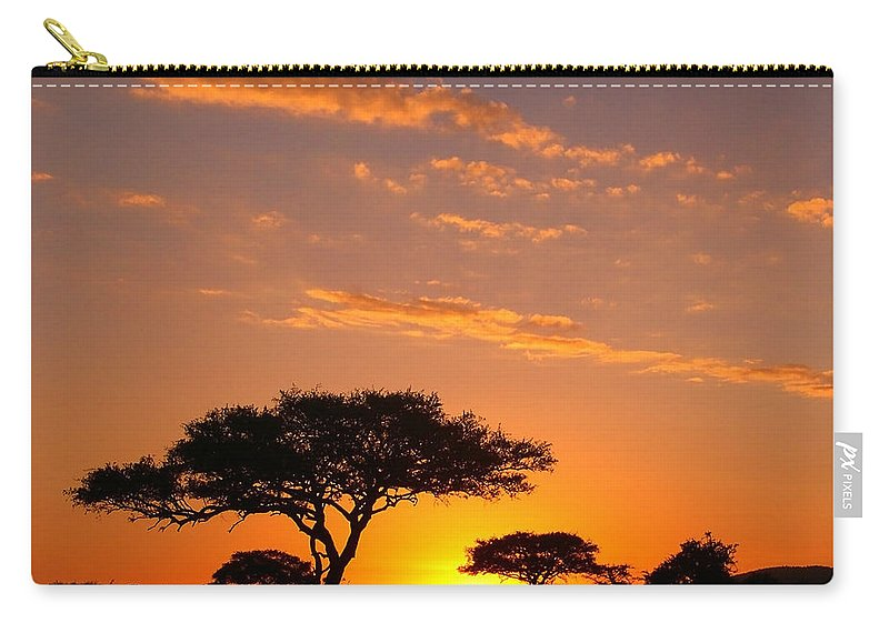 Africa Carry-all Pouch featuring the photograph African Sunset by Sebastian Musial