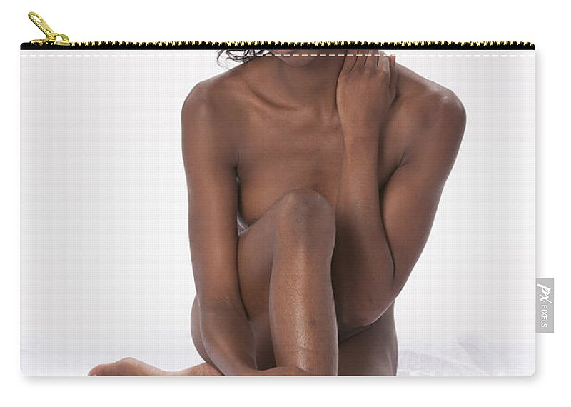 African Carry-all Pouch featuring the photograph Chynna African American Nude Girl In Sexy Sensual Photograph And In Color 4778.02 by Kendree Miller