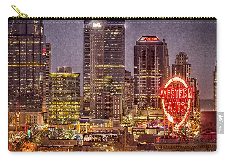 Bridge Carry-all Pouch featuring the photograph After Dark by Ken Kobe