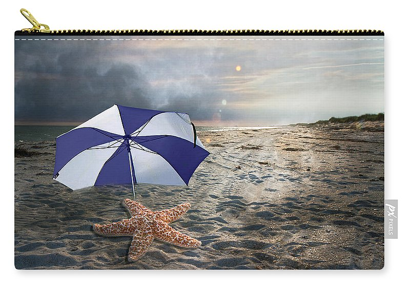 Starfish Carry-all Pouch featuring the digital art After The Storm by Betsy Knapp