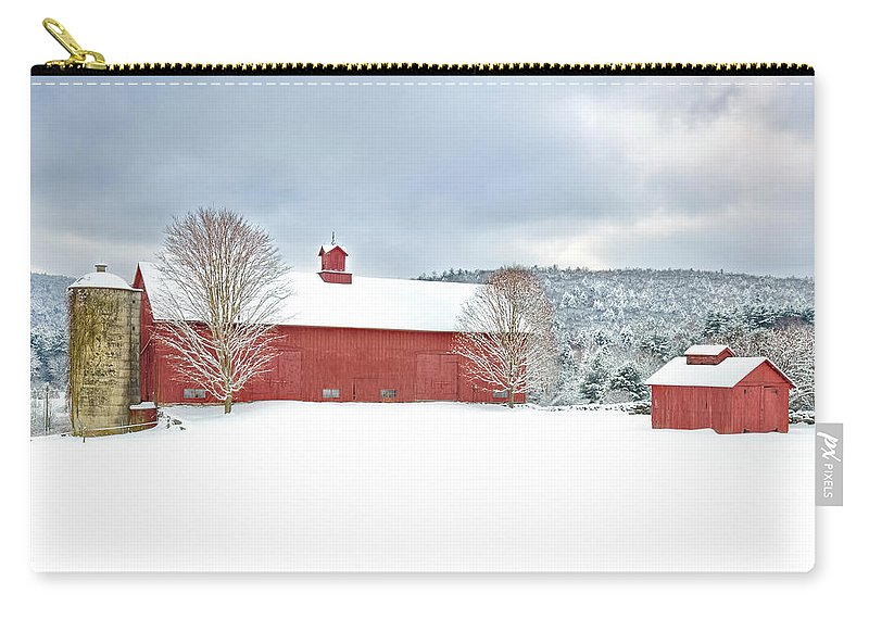 Old Red Barn Carry-all Pouch featuring the photograph After The Storm by Bill Wakeley