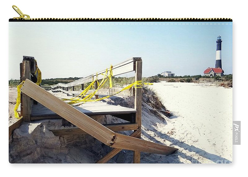 Fire Island Lighthouse Carry-all Pouch featuring the photograph After The Storm by Ed Weidman