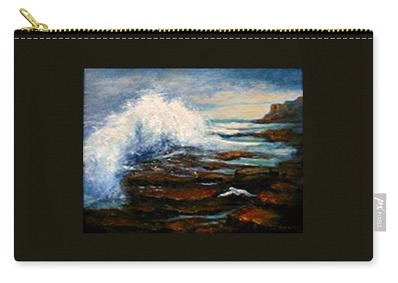 Seascape Carry-all Pouch featuring the painting After The Storm by Gail Kirtz