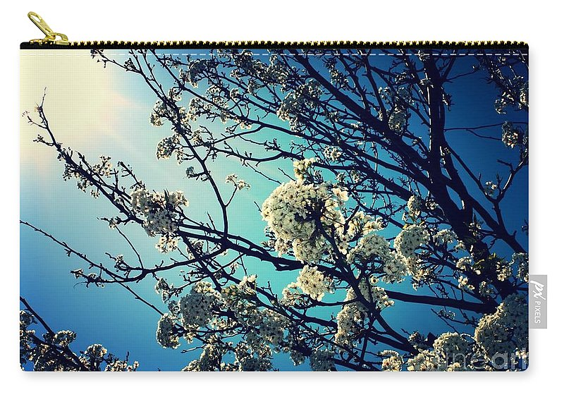 Blue And White Carry-all Pouch featuring the photograph After The Storm In Blue by Carol Groenen