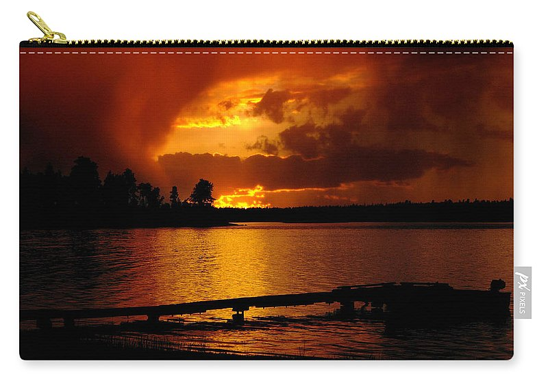 Sunset#1black Knight Holdings � 2011 Carry-all Pouch featuring the photograph After The Storm by Randy Giesbrecht