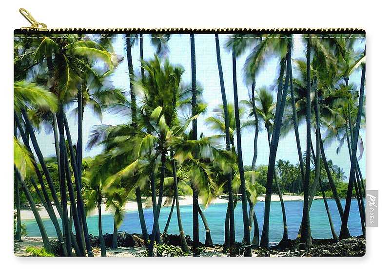Hawaii Carry-all Pouch featuring the photograph Afternoon At Kakaha Kai by Kurt Van Wagner