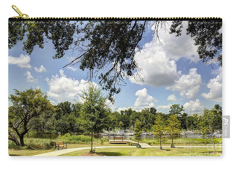 Park Carry-all Pouch featuring the photograph Afternoon At The Park by Joan McCool