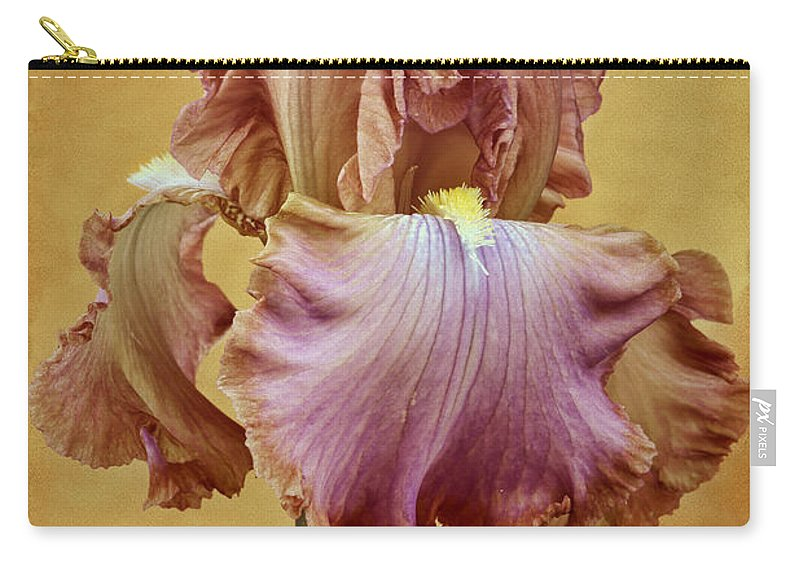 Bearded Iris Carry-all Pouch featuring the photograph Afternoon Delight - 1 by Nikolyn McDonald