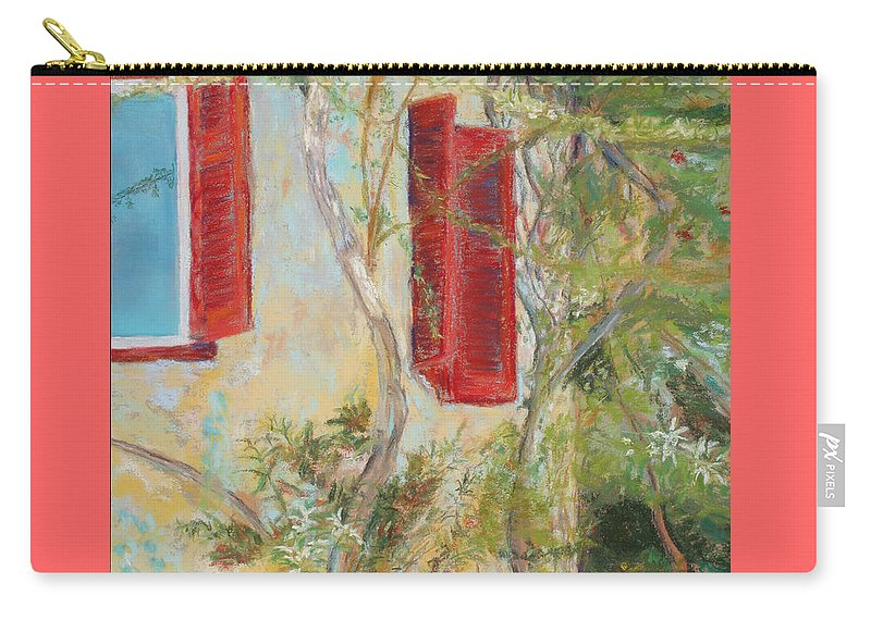 Europe Carry-all Pouch featuring the painting Afternoon In Athens by Mary Benke