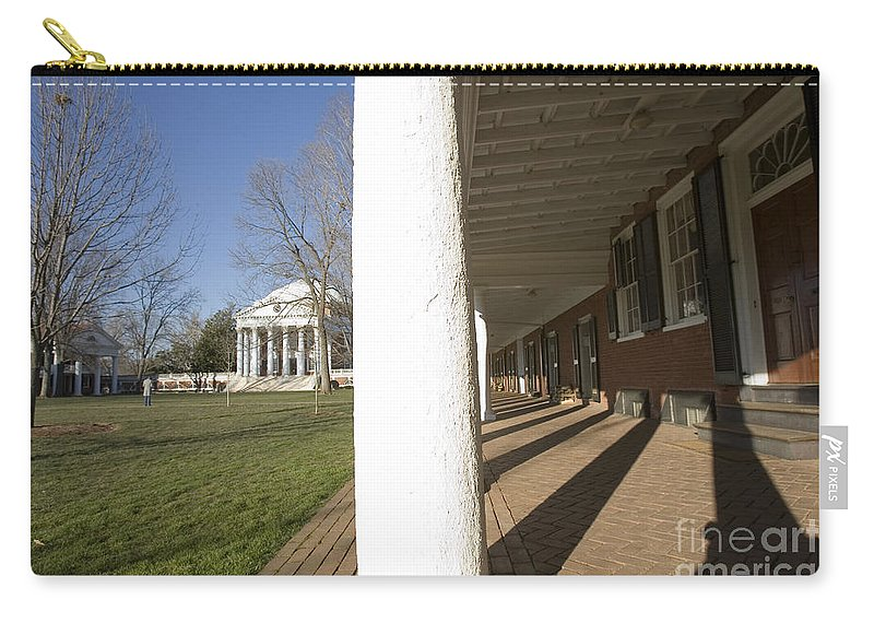 Charlottesville Virginia Uva University Rotunda Lawn Thomas Jeff Carry-all Pouch featuring the photograph Afternoon Shadows Spread Across The Dorms Rooms Along The Lawn by Jason O Watson