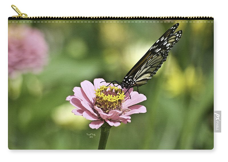 Flower Carry-all Pouch featuring the photograph Afternoon Snack by Trish Tritz