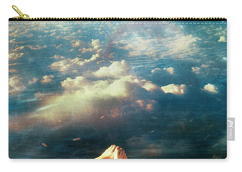 Again Carry-all Pouch featuring the digital art Again by Mario Sanchez Nevado