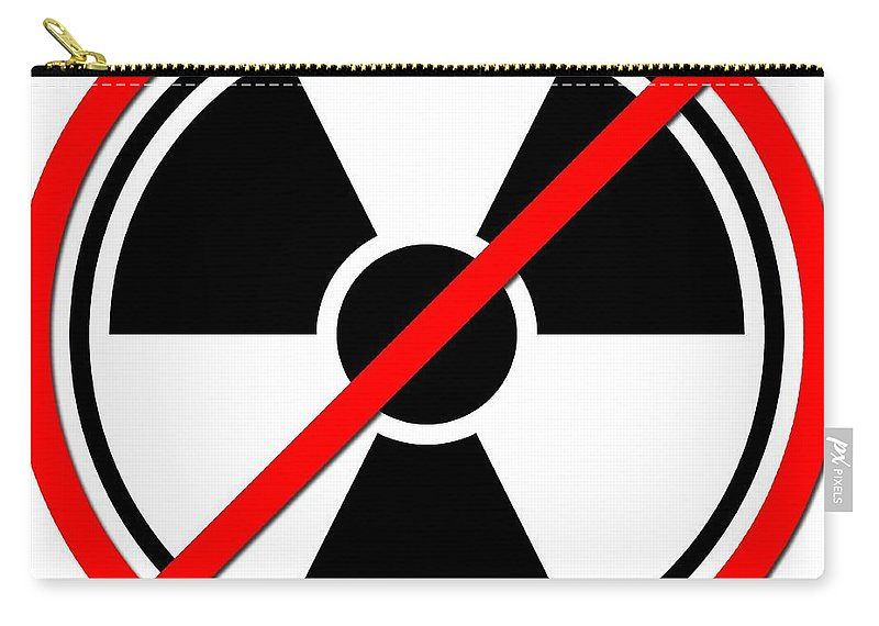 Opposition Carry-all Pouch featuring the digital art Against Atom by Henrik Lehnerer