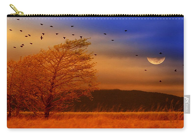 Landscape Carry-all Pouch featuring the photograph Against The Wind by Holly Kempe